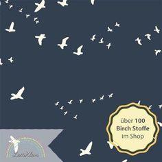 Birch Fabrics Jersey Flight Knits Dusk Vögel von LottiKlein auf DaWanda.com