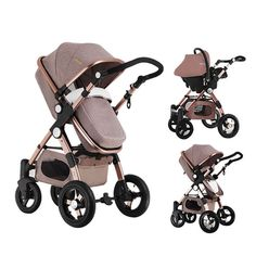 Baby Stroller 3 in 1 Pram Folding Baby Carriage Travel System + Car Seat Newborn Baby Playpen, Baby Prams, Baby Bassinet, Best Baby Strollers, Pram Stroller, Jogging Stroller, Travel System, Baby Carriage, Traveling With Baby