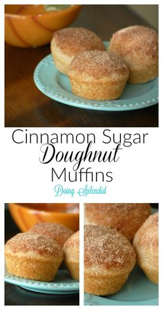 Cinnamon Sugar Doughnut Muffins at DoingSplendid.com