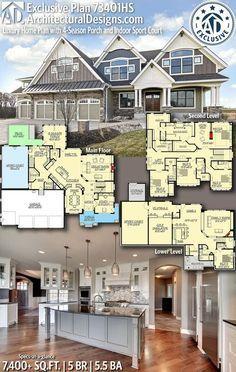Luxury House Plans, Dream House Plans, House Floor Plans, My Dream Home, 6 Bedroom House Plans, Dream Houses, Luxury Floor Plans, Craftsman Floor Plans, The Plan