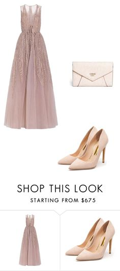 """la mejor diseñadora"" by keka1409 on Polyvore featuring Elie Saab, Rupert Sanderson, GUESS, men's fashion y menswear"