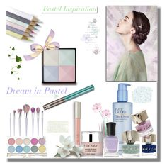 """""""Pastel Inspiration"""" by mimi1207 ❤ liked on Polyvore featuring beauty, Estée Lauder, Smith & Cult, Boohoo, Deborah Lippmann, Givenchy, By Terry, Ilia, Urban Decay and White Label"""