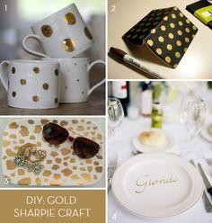 Gold polka dots | gold leopard | sharpie | DIY