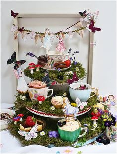 mad hatters cupcake tower and wedding cake idea | French Wedding Style Blog |