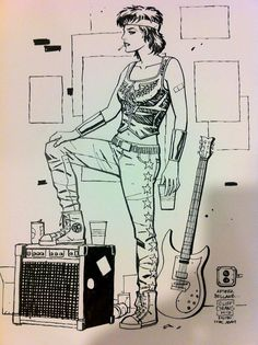 Wonder Woman by Cliff Chiang (inspired by Joan Jett I'm sure)