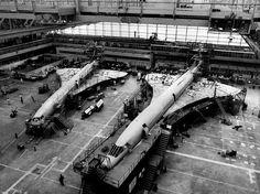 Concord production line. Filton Bristol 1967