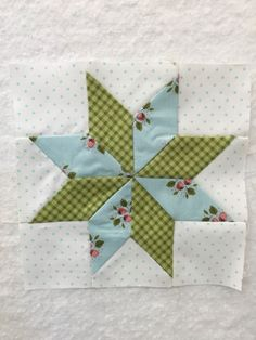 My own Lemoyne star to add to The Splendid Sampler quilt
