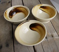 Ceramic Bowl Sepia Tone Ensō Made When Ordered by ThrowingShop, $18.00