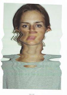 face portrait photography art by mark borthwick Distortion Photography, A Level Photography, Abstract Photography, Portrait Photography, Nan Goldin Photography, Emma Louise Jones, Dossier Photo, Mark Borthwick, Stella Tennant