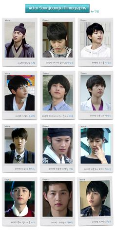 """auipots: """" Song Joong Ki's filmography from his debut to present Translation: 2008 - (Movie) A Frozen Flower as No Tak 2008 - (Drama) My Precious Child as Jang Jin Ho 2009 - (Drama) Triple as Ji Poong. Song Hye Kyo, Drama Korea, Korean Drama, Descendants, Song Joong Ki Cute, Song Joong Ki Birthday, Soon Joong Ki, Decendants Of The Sun, Songsong Couple"""