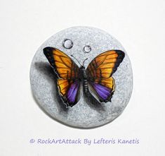 Stone painting Butterfly Is Painted with high by RockArtAttack