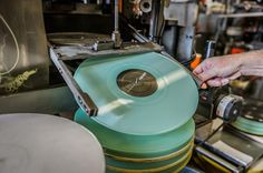 Pressing colored vinyl.