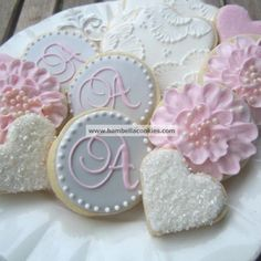 could create biscuits for ana and ahi blu and pink with A on top