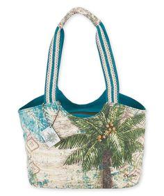 This Paul Brent Blue & White Aqua Escape Shoulder Bag by Sun 'N' Sand is perfect! #zulilyfinds