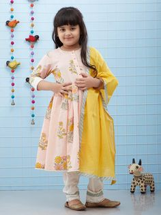 The Loom- An online Shop for Exclusive Handcrafted products comprising of Apparel, Sarees, Jewelry, Footwears & Home decor. Pakistani Kids Dresses, Indian Dresses For Kids, Kids Indian Wear, Kids Ethnic Wear, Kids Summer Dresses, Baby Girl Party Dresses, Dresses Kids Girl, Kids Outfits, Pakistani Kurta