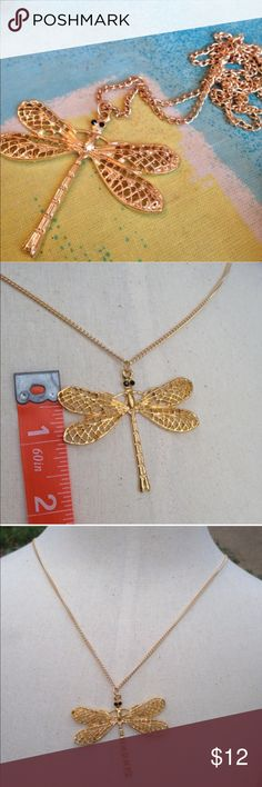 (J3) Dragonfly Necklace See pic Jewelry Necklaces