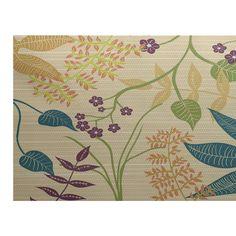 e by design Botanical Blooms Gold Indoor/Outdoor Area Rug | Wayfair