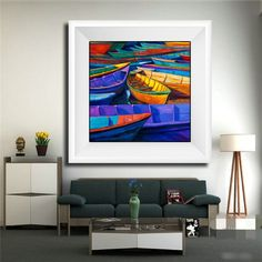 New Arrivals Oil Painting Boats Pattern Full Diamond Painting Mediterranean Style Bedroom Corridor Decorative Diamond Paintings