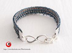 Unisex Infinite Jeans handmade Bracelet very trendy di WoWArteModa, €4.90