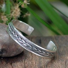 Sterling Silver Cuff Bracelet from Thailand - Movement | NOVICA