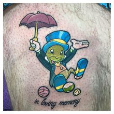 Jiminy Cricket Tattoo by helloalexheart on DeviantArt