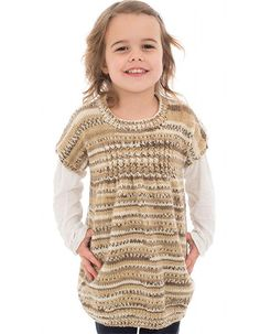 Craft Passions: Easy girl's tunic.# free # knitting pattern link h...