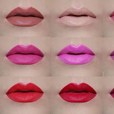 AVON True Color Perfectly Matte Swatches