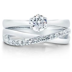 I love this wedding and engagement ring  set!!!