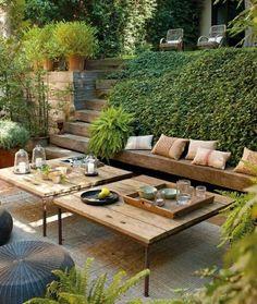 Garten Terrasse Tisch selber bauen Idee