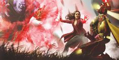 Infinity war Thanos, scarlet witch and vision Marvel Comics, Marvel E Dc, Marvel Avengers, Avengers Movies, Elizabeth Olsen, Jean Grey, Scarlet Witch Avengers, Scarlet Witch Costume, Marvel Concept Art