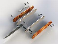 Folding Knife (Ganzo G717) - 3D CAD model - GrabCAD