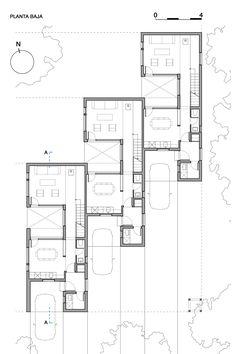 Imagem 18 de 18 da galeria de Casas CLF / Estudio BaBO. Planta térreo