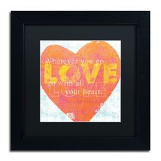 Letterpress Love by Sue Schlabach Framed Graphic Art