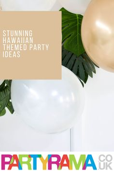 Create a Hawaiian themed birthday for kids and for adults with supplies, decorations, balloons and tableware from Partyrama. Hawaiian Party Supplies, Party Themes, Party Ideas, Best Part Of Me, Serving Bowls, Birthday Parties, Balloons, Decorations, Create