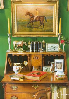 Traditional Equestrian Art - The Glam Pad - The Kentucky Derby is Saturday, and I have horses on my mind. I have always loved equestrian - English Country Decor, Country Art, French Country, French Cottage, Equestrian Decor, Equestrian Style, Equestrian Fashion, Equestrian Bedroom, English Style