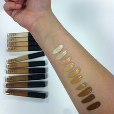 Our NARSissist swatched the Radiant Creamy Concealer line to show off its full range of 10 shades.