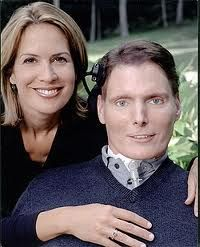 Dana & Christopher Reeves...what a love story, what a tragedy but together forever now.