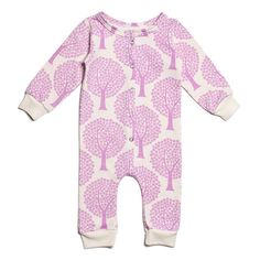 French Terry Jumpsuit - Trees Lavender