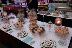 Cup cake buffet station