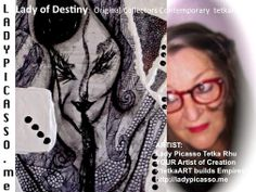"""Hold hands with Lady of Destiny and take the journey which you have created in the Dreaming .... Tetka xox  ART: Lady of Destiny - Original Collectors Contemporary tetkaART SOLD  ARTIST: Lady Picasso Tetka Rhu YOUR Artist of Creation """"tetkaART builds Empires"""" http://lladypicasso.me http://tetkaart.com  #tetka #arts #artist #vision #career #love #GoS #biz #entrepreneur"""