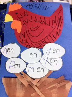 """The """"en"""" Word Family with the Little Red Hen."""
