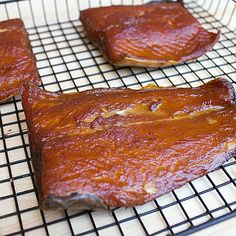 Smoked steelhead trout done in a Bradley electric smoker using a dry brown sugar and salt brine and apple or alder wood. Can use rainbow, slamon or other fish. Trout Brine Recipe, Smoked Lake Trout Recipe, Lake Trout Recipes, Smoked Trout, Salmon Recipes, Fish Recipes, Seafood Recipes, Smoked Fish Brine Recipe, Smoked Salmon