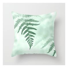 fern Throw Pillow ($24) ❤ liked on Polyvore featuring home, home decor and throw pillows