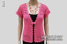 How to crochet lace cardigan jacket. Learn how to design and crochet women's short sleeve sweater with buttons - summer top crochet pattern. Shawl Crochet, Crochet Coat, Crochet Cardigan Pattern, Lace Cardigan, Crochet Blouse, Crochet Clothes, Crochet Lace, Summer Cardigan, Crochet Sweaters