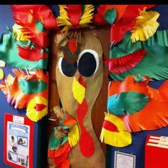 My classroom door for November.