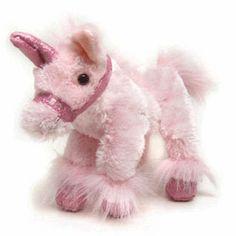 Pink Sparkle Unicorn - She will love this soft, cozy plush unicorn!  www.googoogaagaa.com