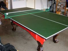 Hours of ping-pong in our basement....friends would come and play for hours....great fun!