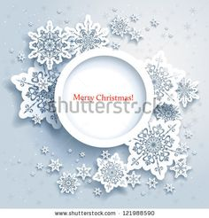 Abstract design with snowflakes and space for text - stock vector