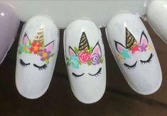 Super Nails Art Sencillo Paso A Paso Ideas New Nail Art, Nail Art Diy, Cool Nail Art, Diy Nails, Manicure, Unicorn Nails Designs, Unicorn Nail Art, Nail Designs Spring, Nail Art Designs
