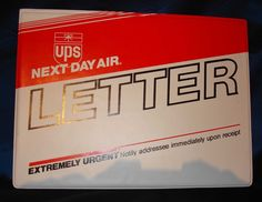 United parcel service ups vintage delivery notice 11 84 used by ups sales executives looks like a ups nda envelope but is a vinyl sales binder has a place for business cards reheart Images